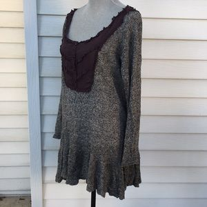 free people oversized light weight knit sweater